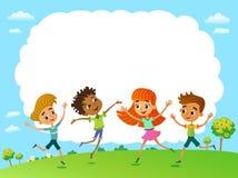 Bambini del globo Giorno di terra dei bambini Vettore fotografia stock