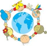 Bambini del mondo Fotografie Stock Libere da Diritti