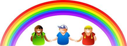 Bambini del Rainbow Fotografia Stock