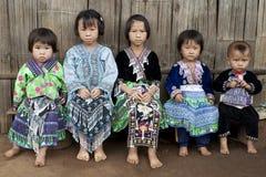 Bambini dell'Asia, gruppo etnico Meo, Hmong Fotografia Stock