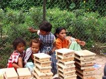 Bambini dell'indiano di Streetside Fotografie Stock