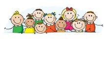 Bambini della bandiera Immagine Stock