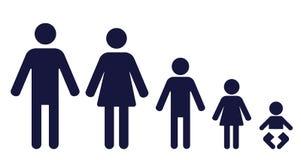 Bambini della famiglia 3 Fotografia Stock Libera da Diritti