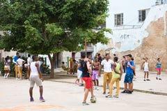 Bambini della scuola, Cuba fotografie stock libere da diritti