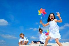 bambini della spiaggia Immagine Stock Libera da Diritti