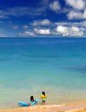 Bambini della spiaggia Fotografia Stock