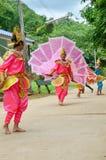 Bambini dello Shan loro ballo di kinnari di manifestazione per il viaggiatore Fotografie Stock