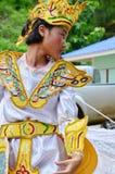 Bambini dello Shan loro ballo di kinnari di manifestazione per il viaggiatore Fotografia Stock