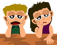 Bambini depressi Immagine Stock