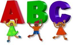 Bambini di ABC Fotografia Stock Libera da Diritti