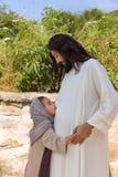 Bambini di benedizione del figlio di Dio Fotografie Stock