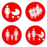 Bambini di cautela del segno Fotografia Stock