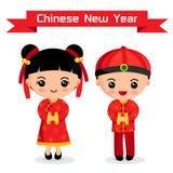 Bambini di cinese del fumetto Fotografie Stock
