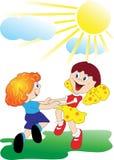 Bambini di Dancing Illustrazione Vettoriale