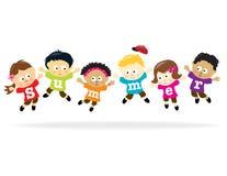 Bambini di divertimento di estate - multi-ethnic Immagini Stock