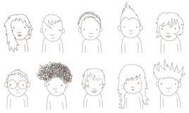 Bambini di Doodle Fotografia Stock