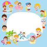 Bambini di estate Fotografie Stock Libere da Diritti