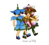 Bambini di fiore Royalty Illustrazione gratis