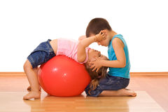 Bambini di ginnastica Fotografia Stock