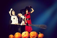 Bambini di Halloween Immagine Stock