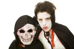 Bambini di Halloween - spaventosi Fotografia Stock Libera da Diritti