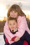 Bambini di inverno Immagine Stock
