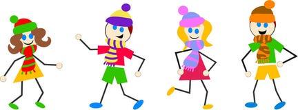 Bambini di inverno illustrazione di stock