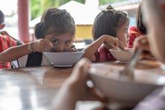 Bambini di Karen della scuola di Banbongtilang Fotografia Stock Libera da Diritti