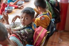 Bambini di Karen della scuola di Banbongtilang Fotografia Stock