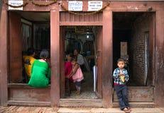 Bambini di Kathmandu fotografia stock