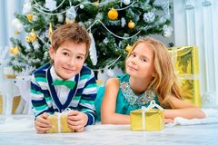 Bambini di modo di Natale Fotografie Stock