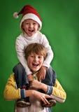 Bambini di natale Fotografie Stock