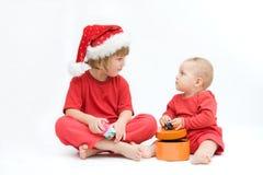 Bambini di natale fotografie stock libere da diritti