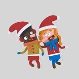 Bambini di natale 3d royalty illustrazione gratis