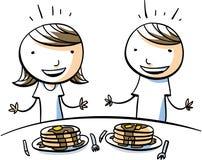 Bambini di Pankcake royalty illustrazione gratis