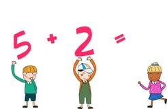 Bambini di per la matematica Fotografia Stock Libera da Diritti