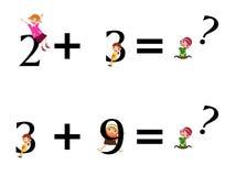 Bambini di per la matematica Fotografia Stock