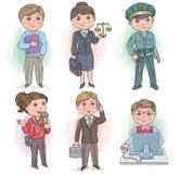 Bambini 5 di professione Immagine Stock