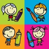 Bambini di tiraggio Fotografia Stock Libera da Diritti