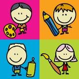 Bambini di tiraggio illustrazione vettoriale
