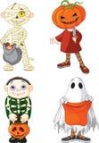 Bambini di trucco o di trattamento di Halloween Immagini Stock Libere da Diritti
