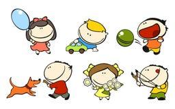 Bambini divertenti #1 - gioco Fotografie Stock