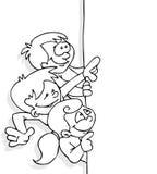 Bambini e bandiera Fotografie Stock Libere da Diritti