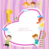 Bambini e blocco per grafici Fotografia Stock