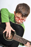 Bambini e chitarra Fotografia Stock Libera da Diritti