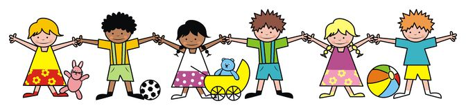 Bambini e giocattoli Immagine Stock Libera da Diritti