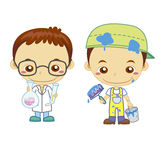 Bambini e job Fotografia Stock