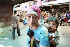 Bambini e mamma Fotografie Stock Libere da Diritti