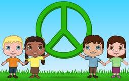 Bambini e pace Fotografie Stock Libere da Diritti