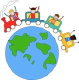 Bambini e treno royalty illustrazione gratis